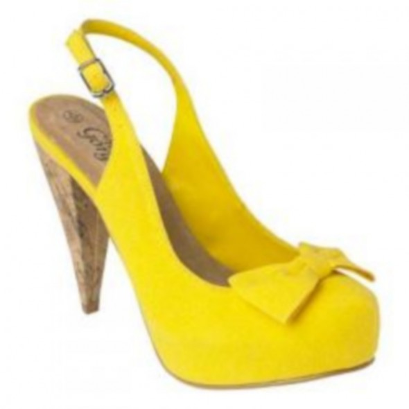 Canvas żółte kokarda Gorgeous...