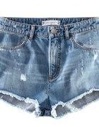 spodenki shorts wysoki stan jeans L