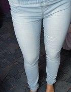 Tregginsy jeansowe na gumce