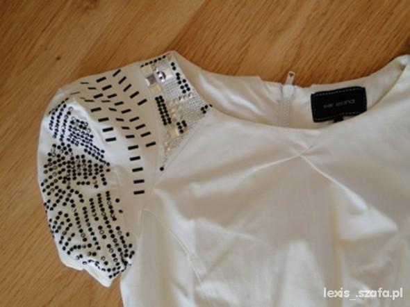 Suknie i sukienki Markowa śliczna biała sukienka
