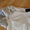 Markowa śliczna biała sukienka