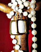 kolczyki retro z masą perłową