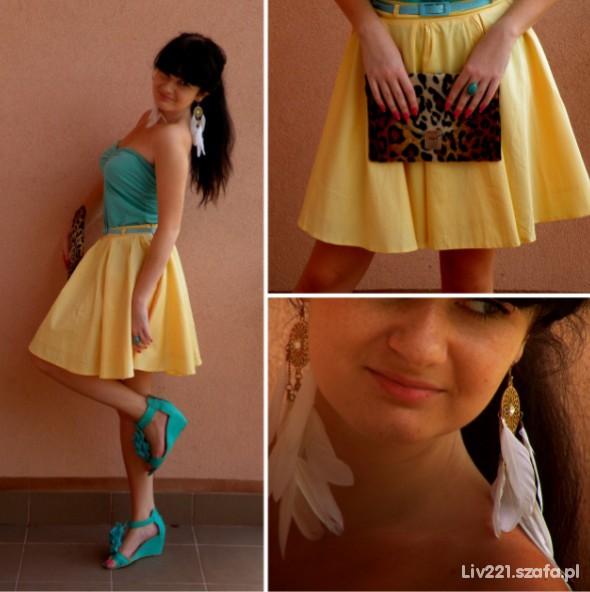Mój styl yellow & mint & panterrrka