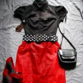 Beware of red devil in pin up style