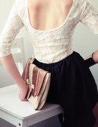 Koronka i asymetryczna spódnica
