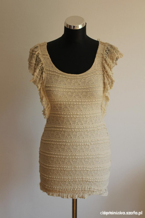 Sukienka H&M kremowa