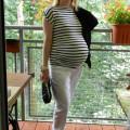 Ciążowo biel i czerń z morelowym akcentem