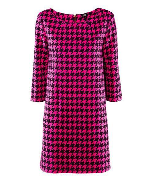 sukienka w pepitke H&m