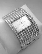 Srebrny zegarek Bransoleta CYROKONIE