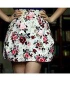 Spódnica w kwiatki z zamkiem H&M SXS 3436
