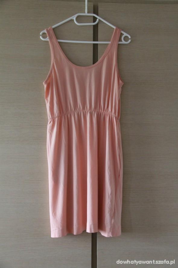 Suknie i sukienki koralowa łososiowa sukienka h&m