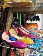 Balerinki w turkusowym kolorze