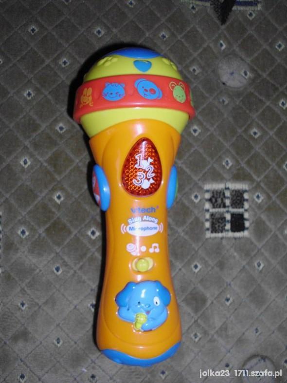 Zabawki muzyczny mikrifon v tech dziweki swaitełka