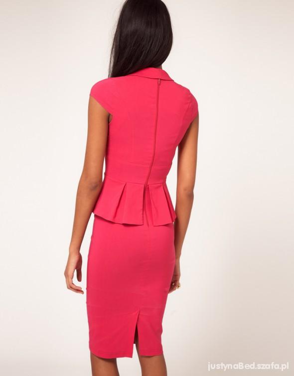 Na specjalne okazje rozowa elegancka sukienka czy na wesele