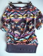 sweter aztec wzorzysty print