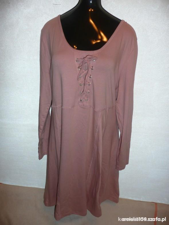 sukienka pudrowy róz 48 50