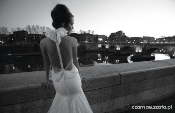 Romantyczne oryginalna suknia ślubna