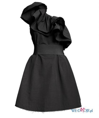 H&M by Lanvin czarna sukienka socha