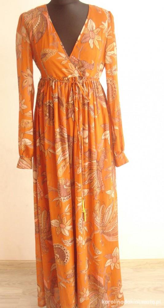 5bbf48e34d HM Długa maxi sukienka boho etno hipis style w Suknie i sukienki ...