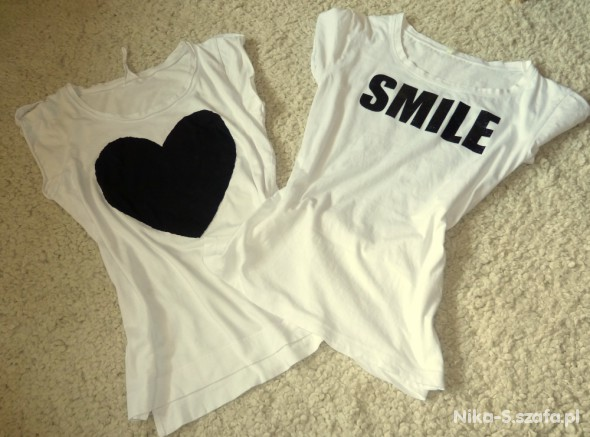 T-shirt koszulka oversize z sercem