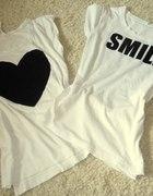 koszulka oversize z sercem...