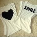 koszulka oversize z sercem
