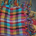 Kolorowa chustka w kratkę firmy Glitter