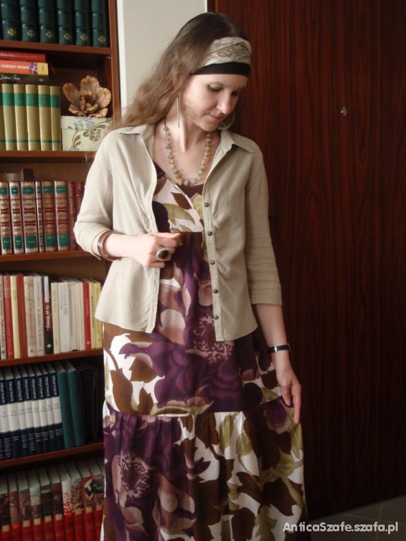 Mój styl Fioletowe maksi kwiaty