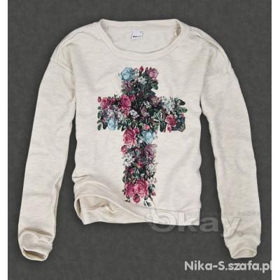 Gina Tricot bluza z krzyżem cross w kwiatki...