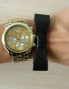 Złoty zegarek boyfriend