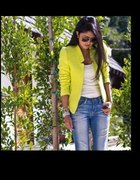 Żakiet ZARA neon limonka