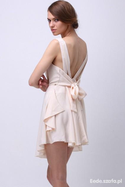 Suknie i sukienki NOWA KREMOWA SUKIENKA ROMWE