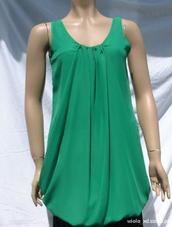 Suknie i sukienki PAPAYA SUKIENKA ZIELONA BOMBKA XL 42