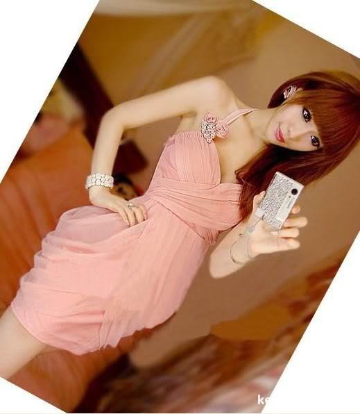 Suknie i sukienki Urocza Imprezowa Sukienka Japan Style S M L