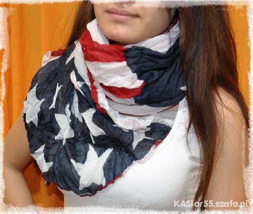 Chusty i apaszki chusta flaga USA