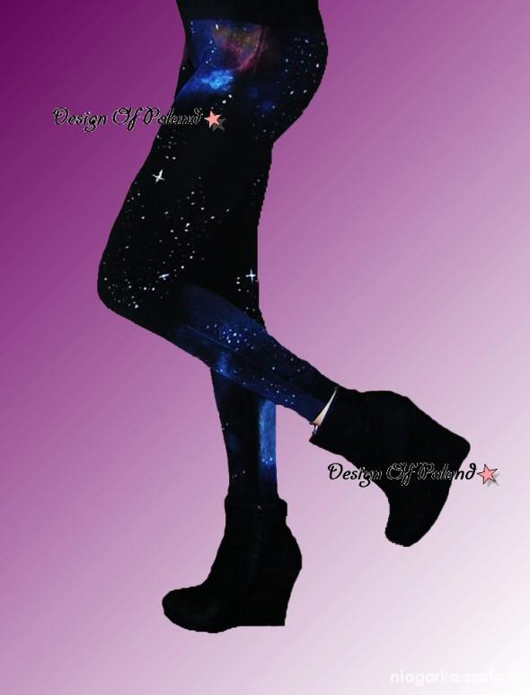 Legginsy Leginsy Galaxy Kosmos blogerskie blue