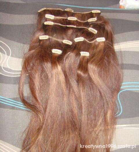 Pozostałe Włosy Naturalne 50 55 cm clip in
