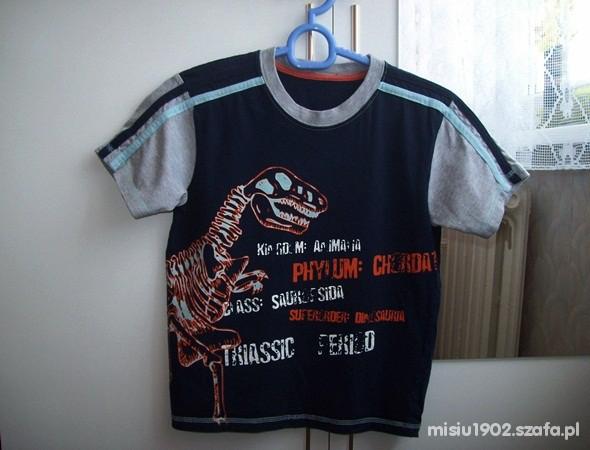 Koszulki, podkoszulki Extra tshirt 128 z Dinozaurem na 7 8 lat