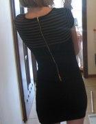 Czarna mini sukienka XS S ZIP baskinka