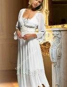 Together biała sukienka z żorżety