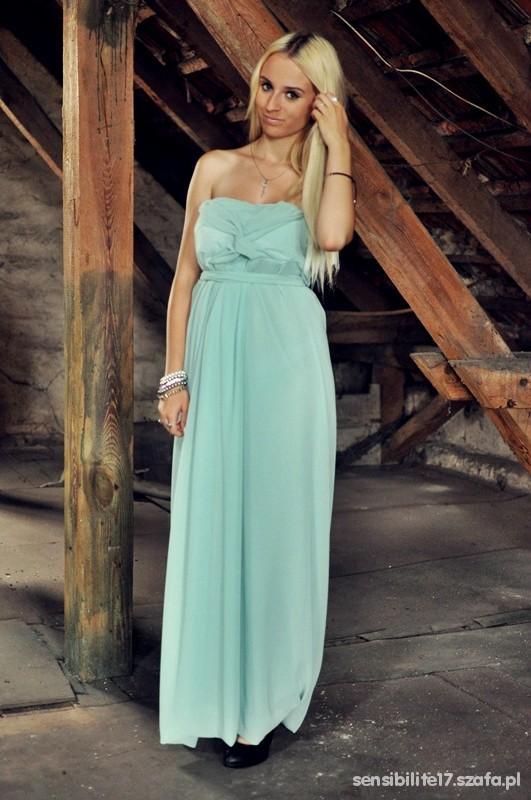 Mój styl Like a woman czyli miętowa suknia aż po ziemię