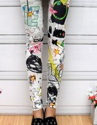 Kolorowe legginsy JAPAN STYLE