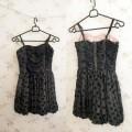 Śliczna sukienka czarna z różową podszewką