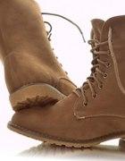 Militarne Sztyblety Workery Bezowe Glany 38 39 40