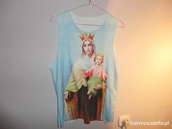Top koszulka Holy Mary Maryja Jezus Aloha print