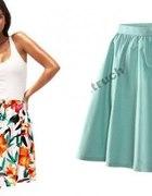 miętowa spódnica H&M