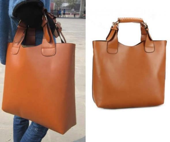 2b87c86d96531 Shopper Bag camel w Torebki na co dzień - Szafa.pl