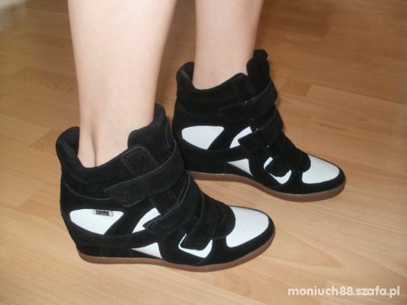 Sportowe buty na koturnie hidden wedge