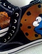 Cookie monster tampki ręcznie malowane