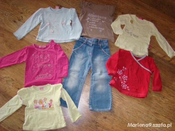 Komplety Bluzeczki i spodnie 92